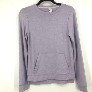 Diadora kids purple sweater long sleeve size large